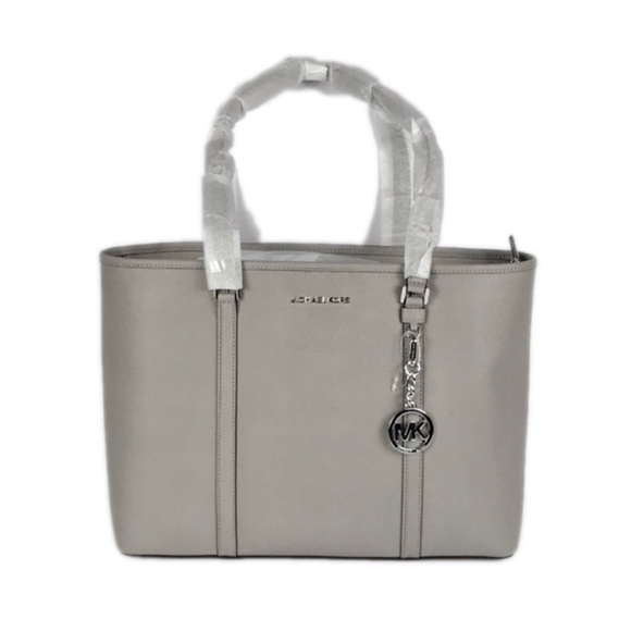 8c31a4954f3f Michael Kors Bags | Sady Pearl Grey Tote Leather | Poshmark